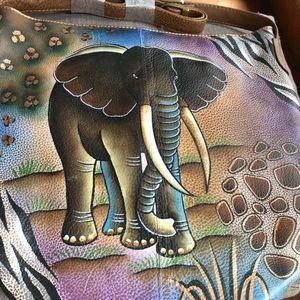 SOVA Bags - SOVA leather Handpainted Leather Tote Bag